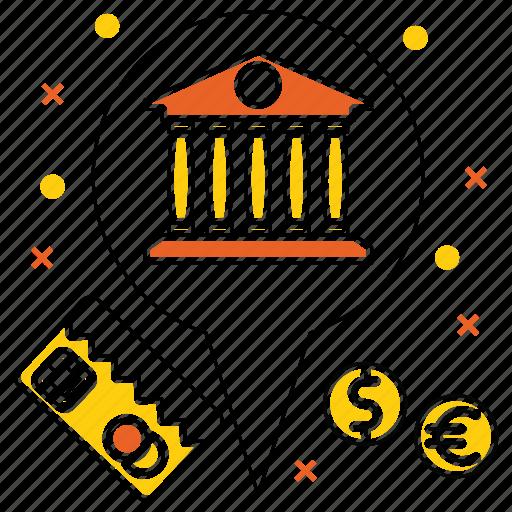 bank, card, currency, market & economics, mastercard, money, pointer icon