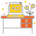 ads, advertise, invest, market & economics, money, sponsor icon