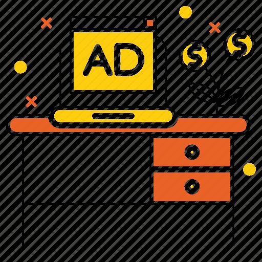 ads, advertise, invest, market & economics, money, sponsor icon