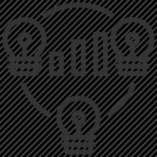 analytics, brainstorm, business, finance, graph, market, statistics icon