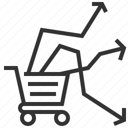 business, currency, ecommerce, finance, market, shopping, trends icon