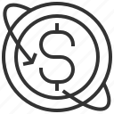 back, business, currency, finance, guarantee, money, payment icon