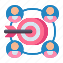 focus, goal, group, researchg icon