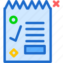 accountant, document, file, letter, paper, printer, report icon