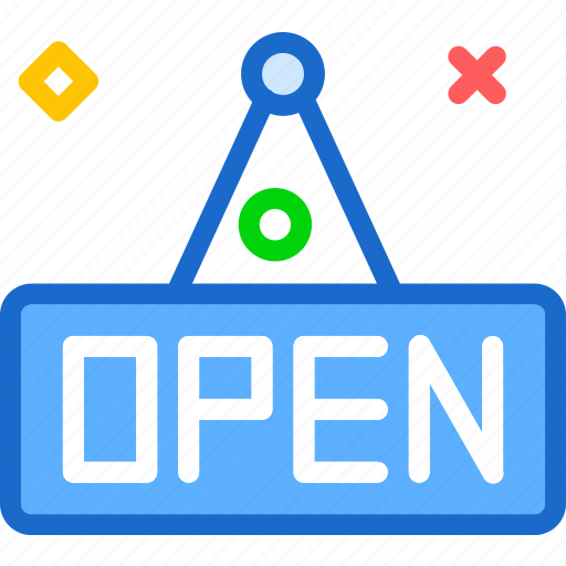 enter, open, shop, sign icon