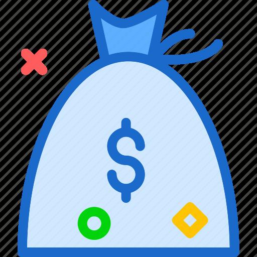currency, euro, money, success, successbagdollar icon