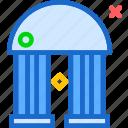 bank, building, old, pillars
