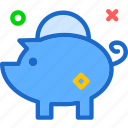 bank, busness, dollar, economy, euro, money, piggy icon