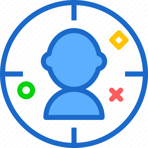 aim, marketing, people, target, team, users icon