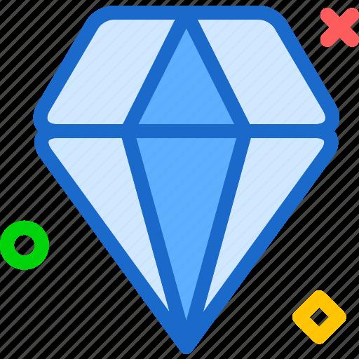 diamond, gem, luxury, precious, valor icon