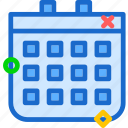 calendar, day, program, schedule, year