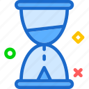glass, hour, timeline, timer icon