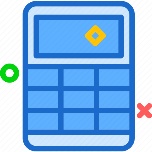 calculator, cancelice, desk, numbers, off, stop, workspace icon