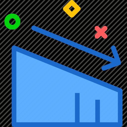 board, compare, dashboard, decrease, graph, report icon
