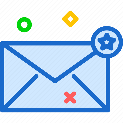 chat, envelope, mail, message, star icon