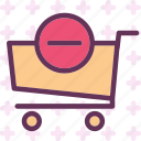 buy, cart, minus, purchase icon