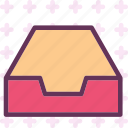 closet, documents, drawer, empty, folder, furniture icon