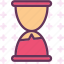 glass, hour, spent, timeline, timer icon