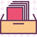 file, folder, secretaryscabinetdrawer icon