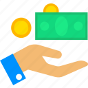advertise, coin, income, marketing, money, shopping icon