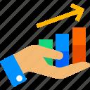 advertise, analytics, chart, coin, marketing, money, shopping icon