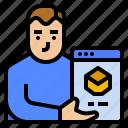 ambassador, avatar, brand, marketing icon