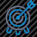 bulls-eye, marketing, arrow, archery, goal, targeting, target icon