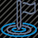 marketing, objective, bullseye, pole, flag, goal, target icon