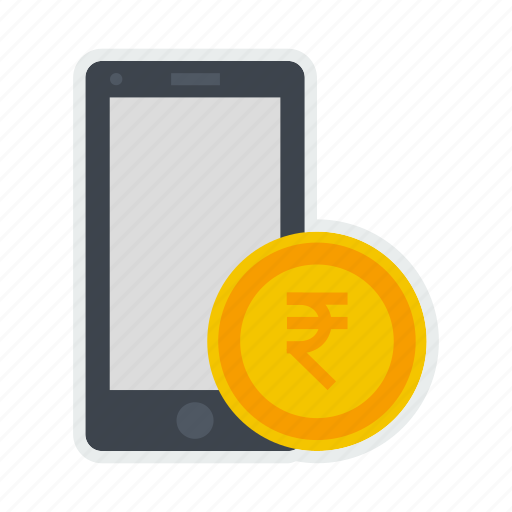coin, currency, indian, mobile, money, payment, rupee icon