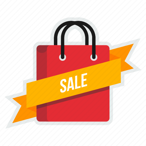 bag, carry, cart, online, ribbon, sale, shopping icon