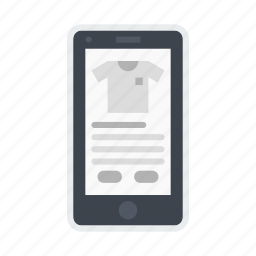 application, garment, mobile, online, product, shop, shopping icon