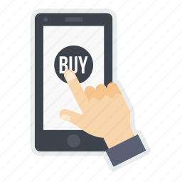 hand, mobile, online, product, shop, shopping, store icon