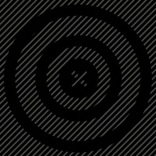aim, bullseye, business goal, focus, goal, target market icon