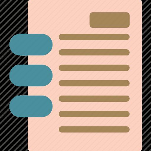 notes, read, wireboundbook icon