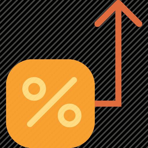 increase, market, marketing, percent, sales, valor icon
