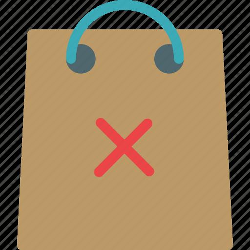bag, buy, cancel, cart, purchase, shopping icon