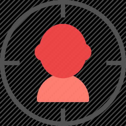 aim, marketing, people, target, team, users icon
