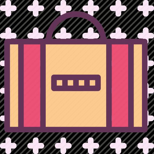 buisness, dollar, euro, locked, money, suitcase, travel icon