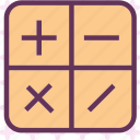 calculator, computer, math, operators icon