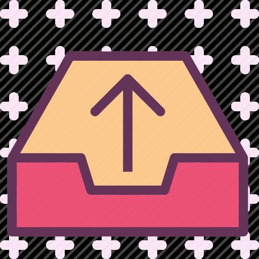 box, cloud, outcome, server icon