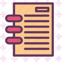 notes, read, wireboundbook icon