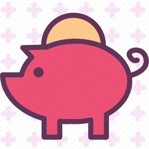 bank, busness, dollar, economy, euro, money, piggy icon