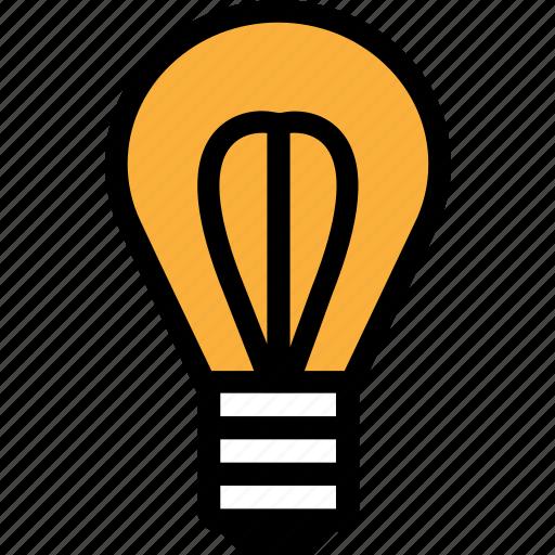 bulb, business, idea, light, marketing icon