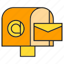 address, email, envelope, mailbox, send icon