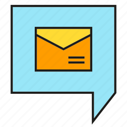 chat, email, mail, message, speech bubble icon