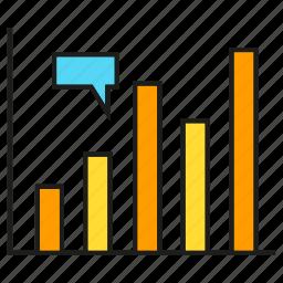 analytics, bar chart, data, graph, stats icon
