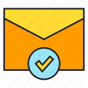 check, email, envelope, mail, secure, send icon