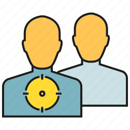 focus, people, target icon