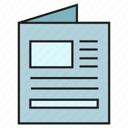 document, newspaper, paper icon