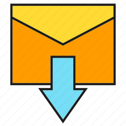 email, envelope, inbox, mail, send icon